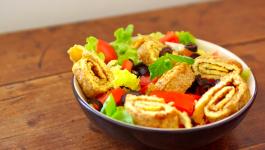 Omelette en salade
