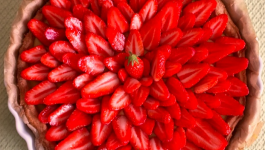 Tarte aux fraises citronnée