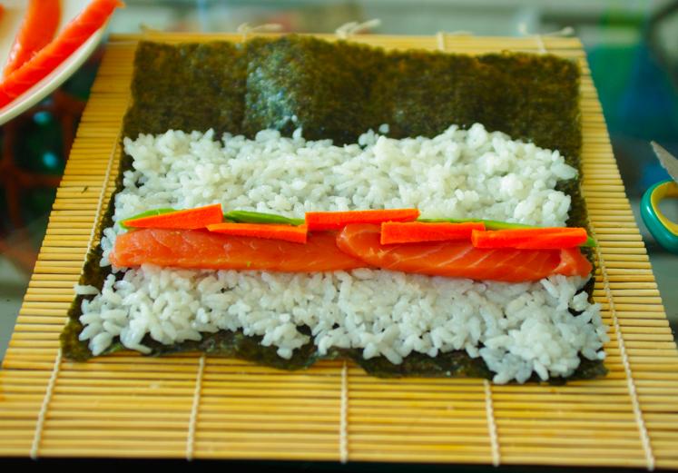 maki saumon carotte avocat